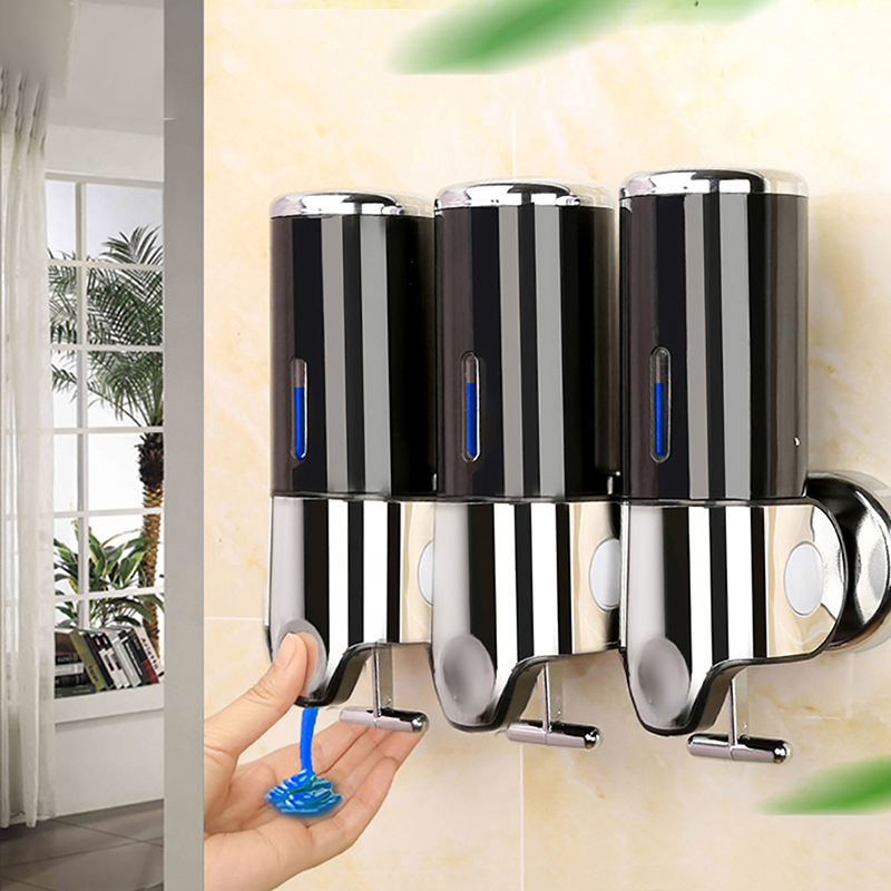 Wall Mount Shower Shampoo Dispenser Auto Touch-free/ Manual Stainless Steel Soap Dispenser
