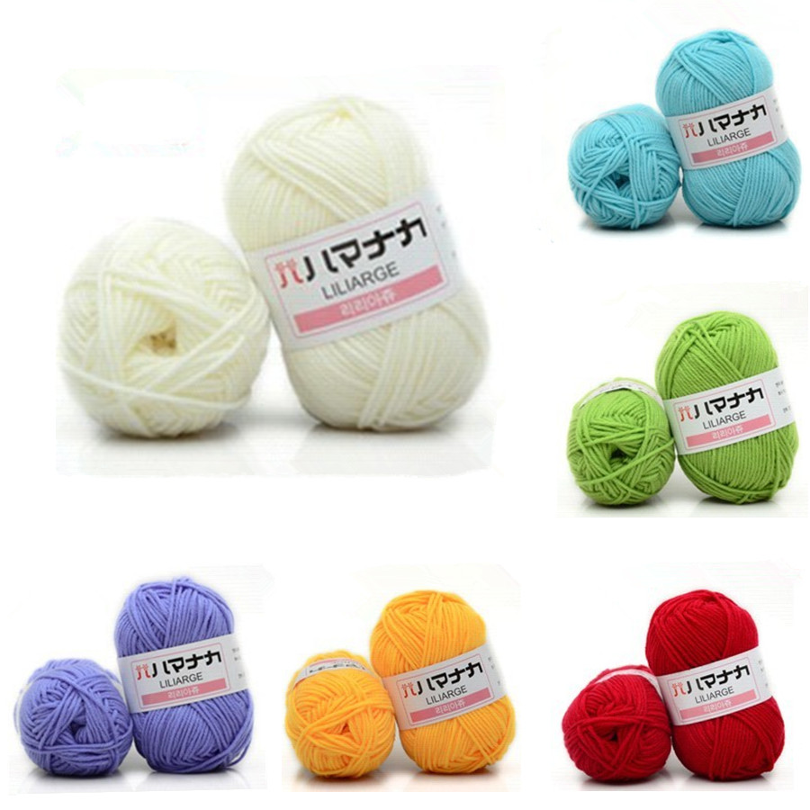 Winter DIY Soft Milk 4 Strands Cotton Yarn Baby Wool Yarn For Knitting Hand Knitted Blanket Sweater Scarf Doll Crochet Yarn