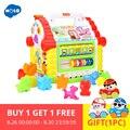 HOLA 739 juguetes musicales multifunción casa divertida de bebé bloques geométricos electrónicos musicales clasificación juguetes educativos regalos