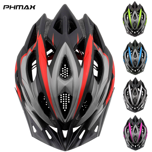 Phmax capacete ultraleve para ciclistas, 2020, capacete de ciclismo com cobetura eps + pc para bicicletas de montanha, mtb e estrada, moldado integralmente tampa segura 1