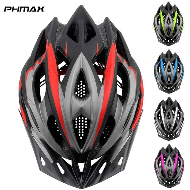 PHMAX 2020 Bicycle Cycling Helmet Ultralight EPS+PC Cover MTB Road Bike Helmet Integrally mold Cycling Helmet Cycling Safely Cap
