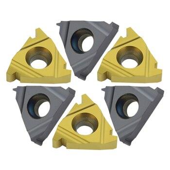 10 piezas 16IR/22IR 1.5TR 2TR 3TR 4TR 5TR 6TR hoja de rosca de carburo herramienta de torno de hilo trapezoidal hoja para SNR torno CNC