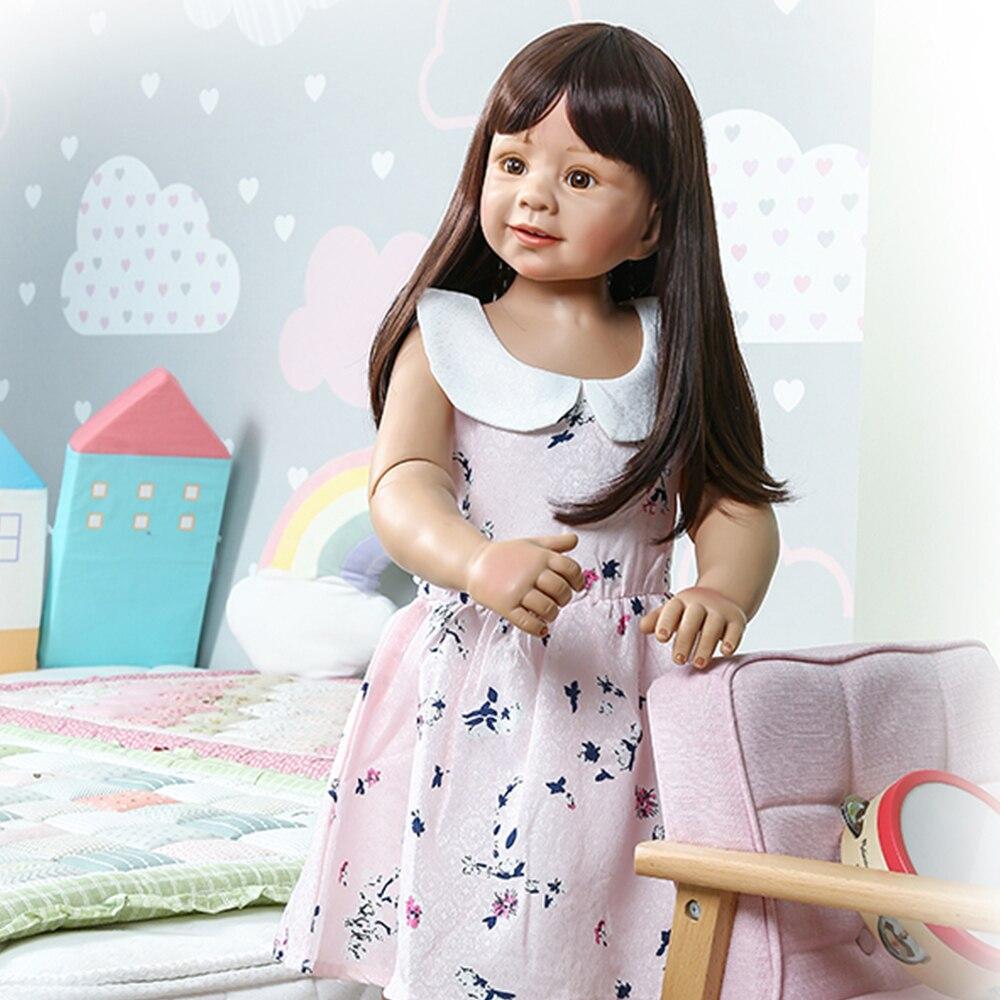 87cm grand Reborn bébé poupée corps entier Silicone inteiro Boneca Reborn bambin jouets vêtements modèle 2 ans réel bébé fille poupées