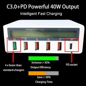 Image 3 - Зарядное устройство pd для путешествий с поддержкой QC 3,0 и ЖК дисплеем
