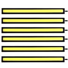 6 pezzi Super Luminoso 17 CENTIMETRI COB LED Lampadina Della Nebbia Dell'automobile DRL HA CONDOTTO La Striscia Daytime Corsa E Jogging Luce bar 12V 6500K Auto Stile Degli Interni Lampada