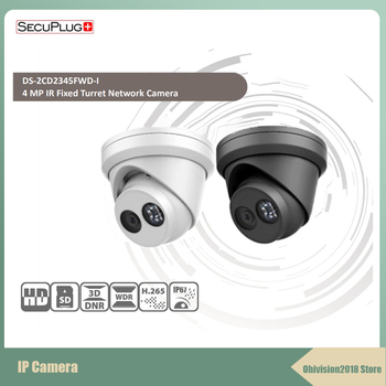 Secuplug+ DS-2CD3346WD-I Multilingual Version 4MP H.265 Surveillance IP Dome Camera IR 30M Support PoE Waterproof  Dog camera new english version free shipping ds 2cd2055fwd i replace ds 2cd2055 i 5mp network bullet camera support on board storage