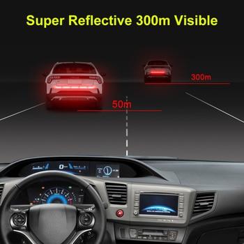 5pcs/set Car Reflectante Reflector Sticker 91*4 Car Body Trunk Exterior Auto Accessories Reflective Tape Reflex Exterior Warning