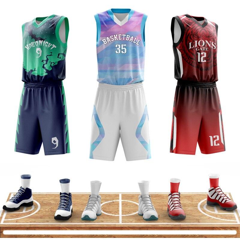גברים של רטרו כדורסל גופיות אישית מותאם אישית מלא סובלימציה כדורסל מדים נוער כדורסל חיצוני ספורט בגדים