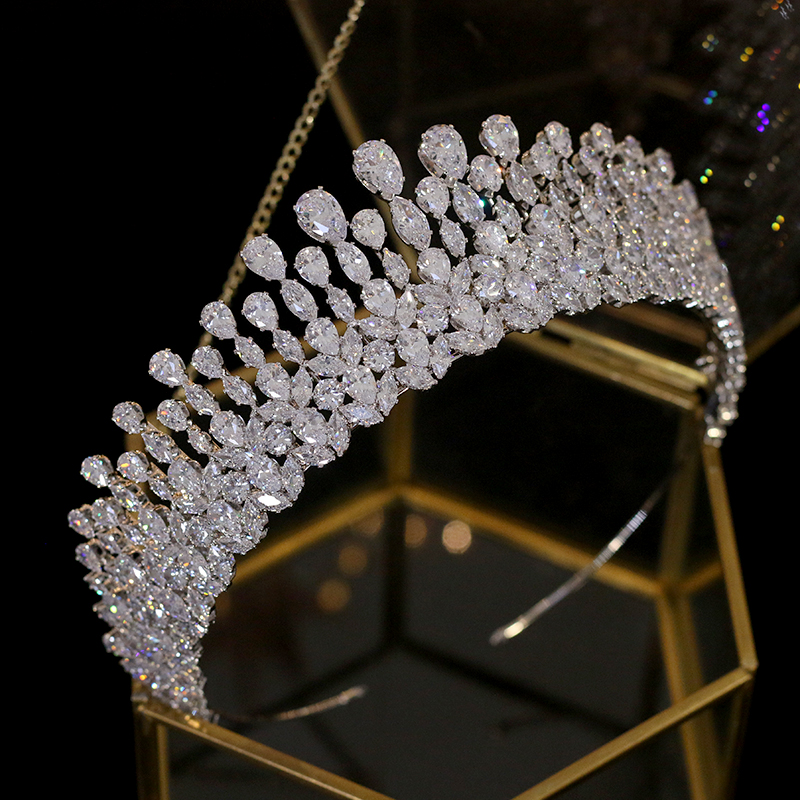 New drop Tiara crystal headdress wedding hair accessories crown jewelry headband wedding accessories