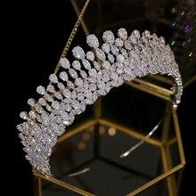 ニュードロップティアラクリスタルヘッドドレスウェディングヘアアクセサリー王冠の宝石カチューシャウェディングアクセサリー