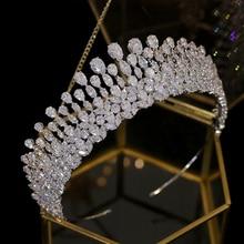 Tiara en forma de gota, tocado de cristal, accesorios para el cabello de boda, corona, joya de diadema, accesorios de boda