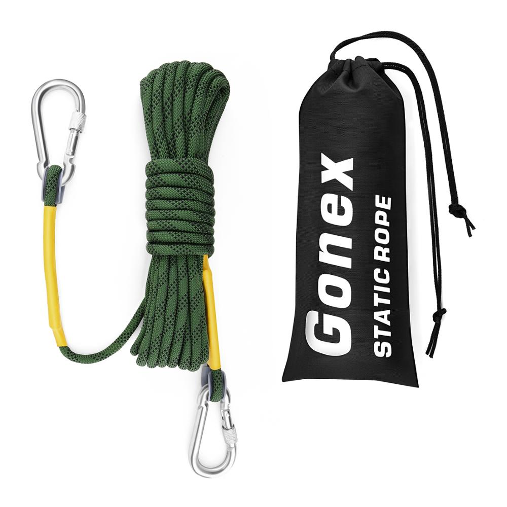 Gonex PRO 10m Static Climbing Rope, Dia 8mm Rock Climbing Rope For Climbing Fire Escape Hiking Engineering Protection