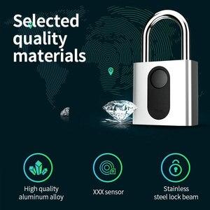 Image 2 - Automatic Fingerprint Lock Nokelock Electronic Padlock Iron Door Locker Luggage Lock Travel Business Office