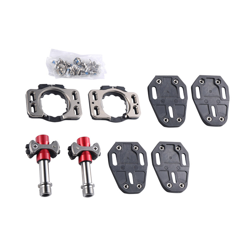 Road Bike Pedals Self-Locking Pedal Titanium Ultra Light Action Pedals Speed Paly Zero Pave Release Pedal Bicycle Pedal Clip