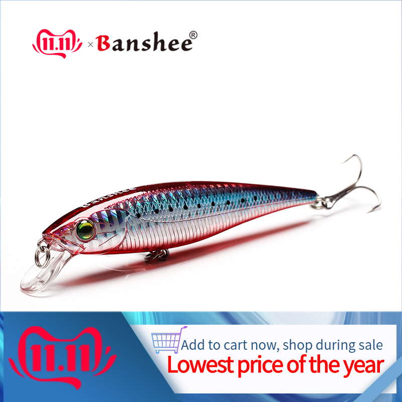 Banshee Chilly Stick JR Jerkbaits Minnows Floating Fishing Lure  100mm 16g Rattle Sound Wobbler Artificial Hard Bait For Bass