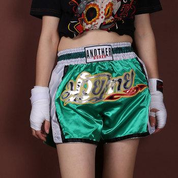 Men #8217 s Boxer Shorts Kids Women Muay Thai MMA Kickboxing Short Grappling Crossfit Bjj Boxeo Trunks Sanda Sport Costumes XS-3XL tanie i dobre opinie Poliester Thai Boxing shorts Pasuje prawda na wymiar weź swój normalny rozmiar Patchwork Boxer shorts thai boxing trunks