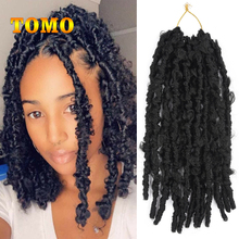 Hair-Extensions Locs-Hair Braiding Crochet Pre-Looped Butterfly TOMO Synthetic