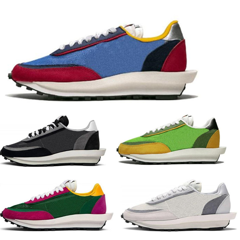 Sacai LDV Waffle running shoes for men women black white grey pine Green Gusto Varsity Blue mens trainers fashion sports sneaker