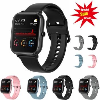 P20 1.4 inch Full Touch Smart Watch Men Fitness Tracker Blood Pressure Fitness Tracker Smart Clock Women Smartwatch for Xiaomi