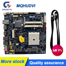 FOR GIGABYTE MQHUDVI THIN MINI 17*17 FM2 A75 motherboard ITX DC powered LVDS Original Used motherboard