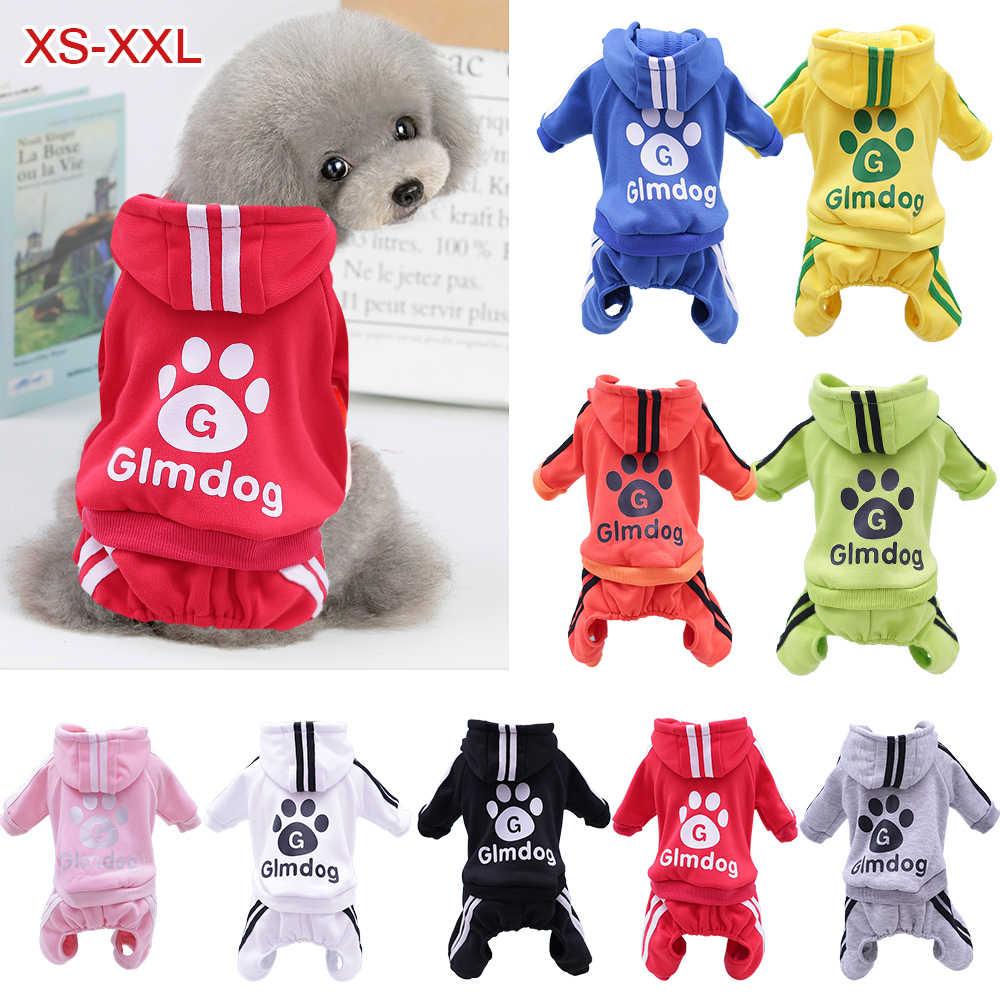 XS-XXL ubrania dla zwierząt domowych ciepły kombinezon dla psa kot Puppy piżamy odzież zagęścić bluza dla zwierząt płaszcz dla psów Chihuahua Yorkie mops
