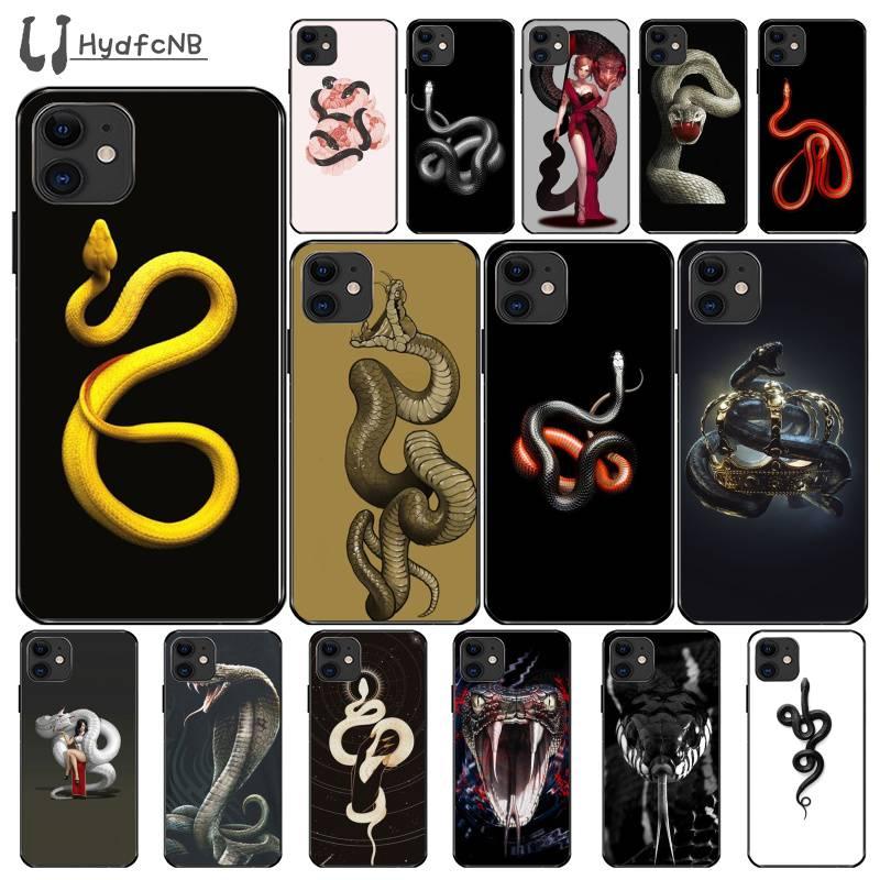 Ljhydfcnb Animal Snake Flower Pattern High Quality Silicone Phone