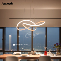 Post Modern Irregular LED Chandelier Light Aluminum Acrylic Ceiling Hanging Lamp Dining Room Pendant Restaurant Suspension Light