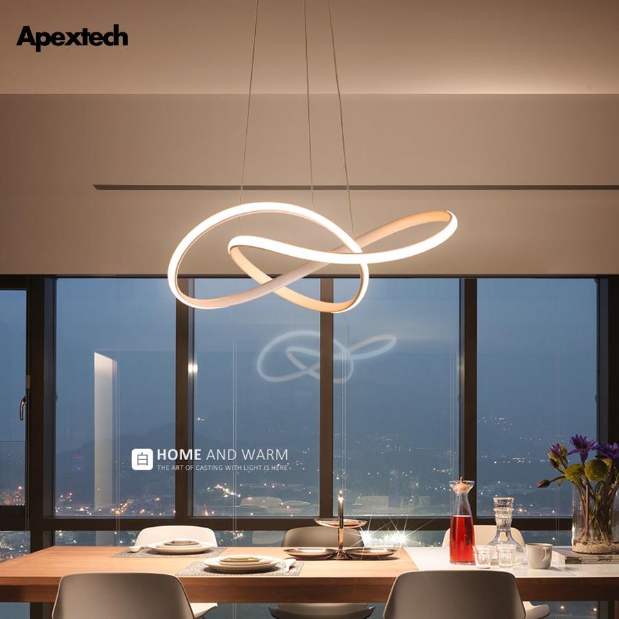 Post Modern Irregular LED Chandelier Light Aluminum Acrylic Ceiling Hanging Lamp Dining Room Pendant Restaurant Suspension Light