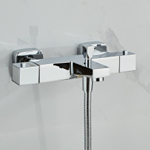 Faucet Bathtub-Tap Thermostatic Bath-Mixer Wall-Mounted Shower-Control-Valve Hot And