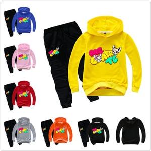 Комплект одежды с героями мультфильмов «Я-Контраст-те» весенне-осенний свитер для мальчиков комплект детской одежды, спортивный костюм пал...