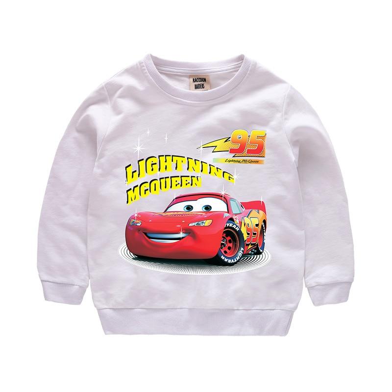 Disney Cars Sweatshirt Cotton Boy Sweatshirt Child Lightning McQueen Sweatshirt 2
