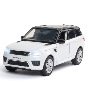 цена на KIDAMI 1:32 Diecast Car Model Range Rover Sport SUV Pull Back Metal Toy Vehicles Alloy Toy Car For Children Gift Collection