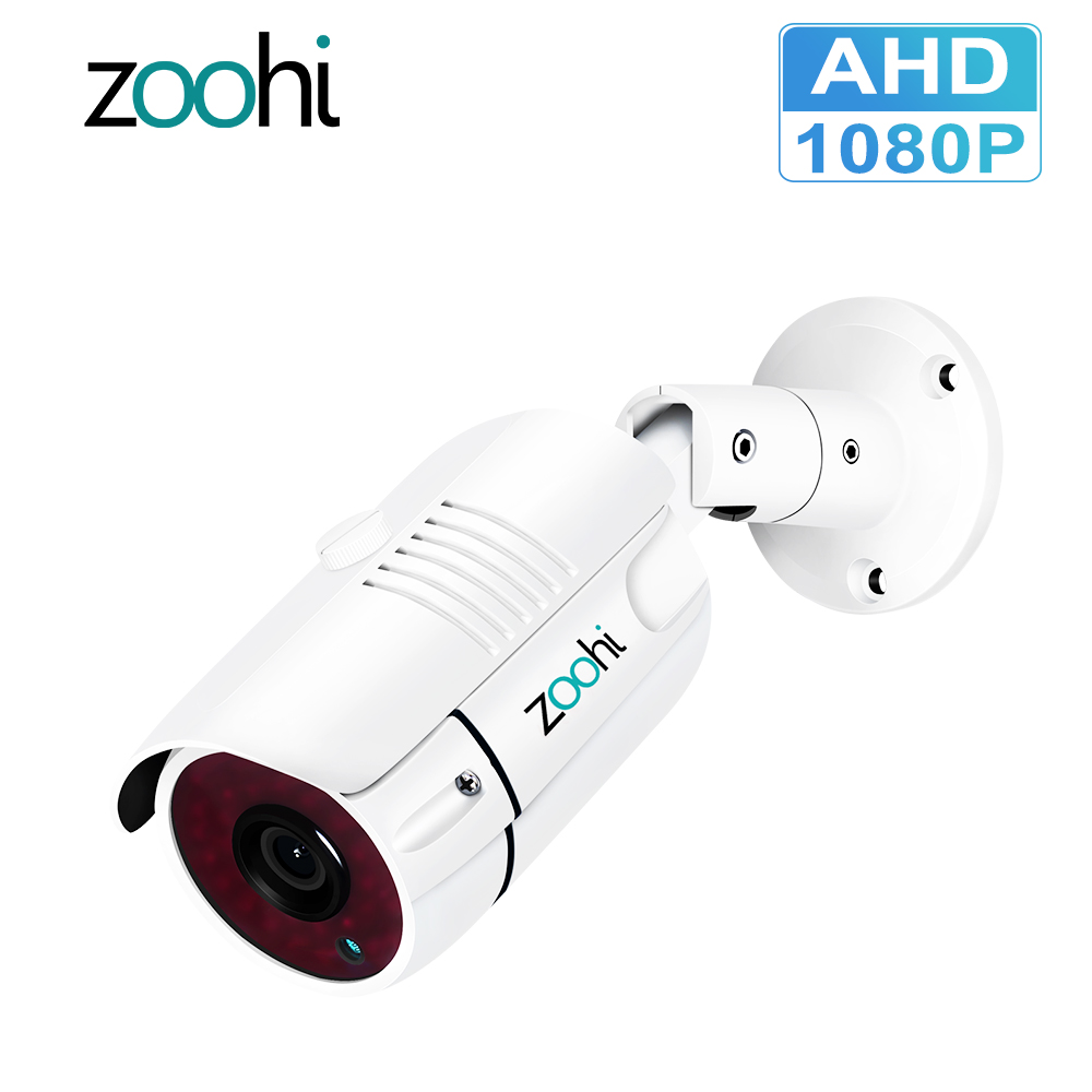 Zoohi 1080P Surveillance Cameras Analog High Definition Surveillance Infrared Camera Video Surveillance Waterproof CCTV Camera