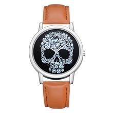 Fashion Retro Skull Watches Casual Women Watches Leather Band Quartz Wristwatches Ladies Watches dames horloges horloges vrouwen цены