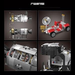 Image 4 - ของเล่นStar Warsใช้งานร่วมกับMOC 26457 Apollo Spacecraft Building Blocksอิฐประกอบของเล่นชุดเด็กคริสต์มาสของขวัญ