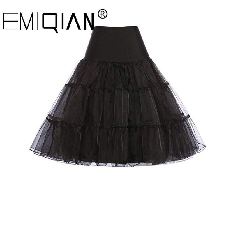 Short Organza Petticoat For Cocktail Dresses Crinoline Underskirt Black White Red
