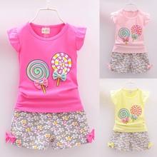 2PCS 2021 Summer Toddler Kids Girls Outfits Bow Print Sleeveless T-shirt Tops+Short Pants Baby Girl Clothes Set