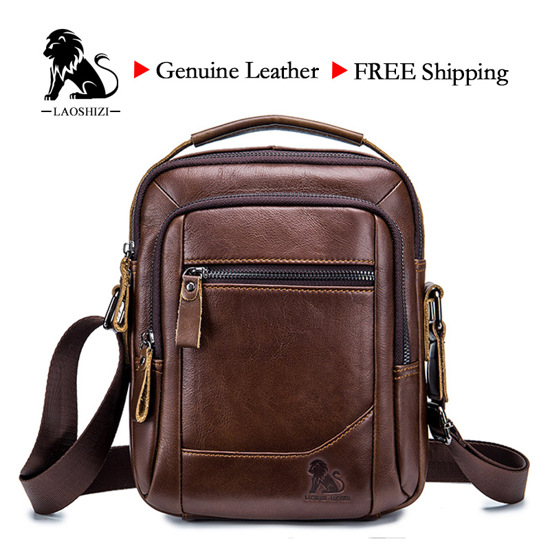 LAOSHIZI LUOSEN メンズバッグ本革ショルダーバッグ拳層牛革カジュアルビジネス男性高級ブランド Bag91314    グループ上の スーツケース