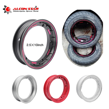 Alconstar- 2.5*10 Inch Motorcycle Aluminum Wheel Ring Rim Scooter Wheel Circle Rims for Vespa Piaggio PX LML T5 px125 150 200 T5