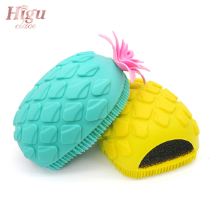 Image 4 - Hot Sale Facial Cleaning Brush Exfoliator Massage Pore Deep Cleansing Pineapple Shape Silicone Face Wash Brushes Beauty Tool