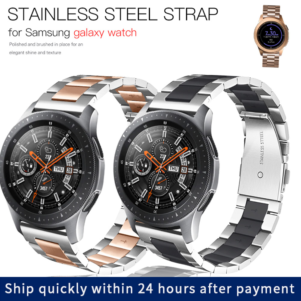 Metal Link Bracelet stainless Steel strap For <font><b>Samsung</b></font> galaxy watch <font><b>46mm</b></font> 42mm Gear S3 Frontier strap for huawei watch GT strap 20 image