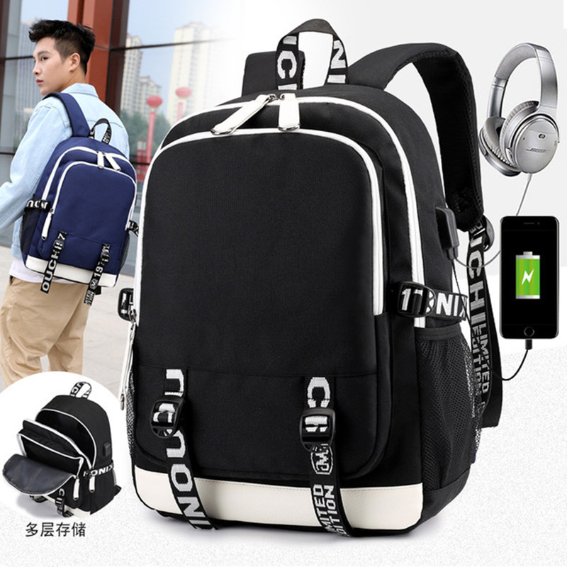 Kids School Backpack Student USB Charge Changeover Joint High School Bags For Teenager Boys Anti-theft Backpacks Mochila Escolar