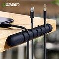 Ugreen Cable organizador Cable USB de silicona enrollador Flexible gestión de cables Clips soporte de Cable para Mouse auriculares