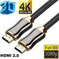 4K 60 Гц HDMI-совместимый кабель 1 м 2 м 3 м 5 м 10 м высокоскоростной 2,0 позолоченный кабель для UHD FHD 3D Xbox PS3 PS4 TV