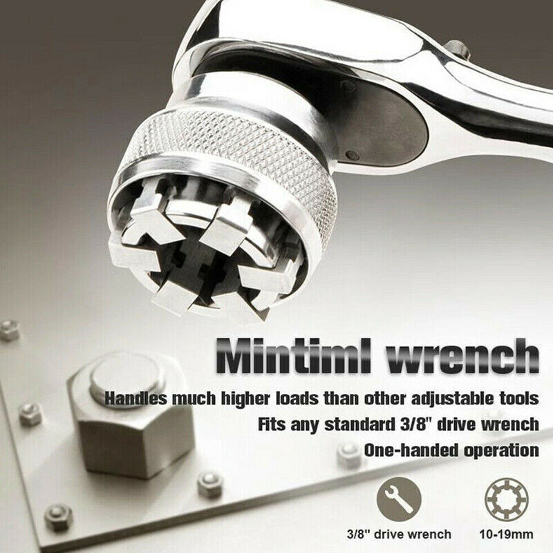 Adaptive Wrench All-Fitting Multi Drill Attachment Magic Tool Universal Wrench Cover Chrome Molybdenum Steel Universal Sleeve