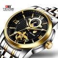 Роскошные Брендовые мужские часы автоматические механические часы TEVISE мужские деловые водонепроницаемые часы с скелетом Toubillon