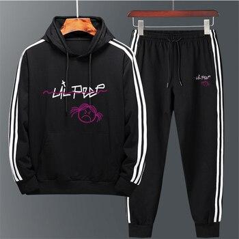 men Sweatshirts Hooded Pullover sweatershirts male/Women cry baby Men Hoodie Streetwear Lil Peep Hoodies Love lil.peep 2 pieces недорого