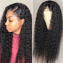 Curly Human Hair Wigs 360 Lace Frontal Wigs For Black Women Transparent Lace Wigs Kinky Curly Glueless Full Lace Wig Pre Plucked(China)