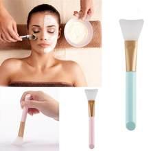 Escova facial de silicone macia para maquiagem, pincel para base do rosto, para maquiagem e cosméticos, para cuidados com a pele, 1 peça ferramentas,