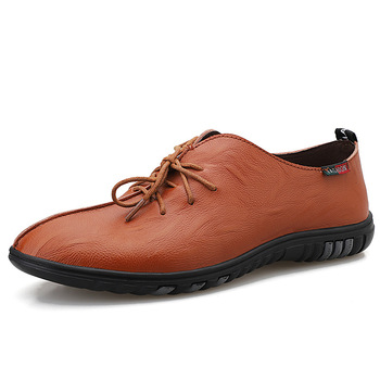 Men's Business Dress Lace Up Casual Shoes British Retro Breathable Fashion Leather Shoes